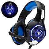 Gaming Headset für PS4 PS5 PC Xbox One, LED Licht Crystal Clarity Sound Professional Kopfhörer mit Mikrofon für Laptop Mac Nintendo Switch
