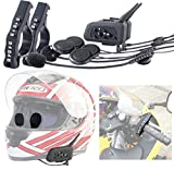 Callstel Motorrad-Helm-Headset: Motorrad-BT-Intercom-Headset, Fernbedienung, 1 km Reichweite, 2er-Set (Headset-Intercom, Bluetooth)